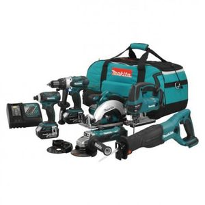 PACK DE MACHINES OUTIL PACK 6 OUTILS MAKITA DLX600M 18V  (2 x 4,0 Ah)
