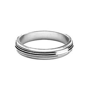 ALLIANCE - SOLITAIRE ALLIANCE ANTI-STRESS HOMME FEMME 4mm ARGENT
