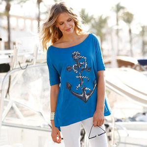cheaper usa cheap sale how to buy Tee-shirt marin manches aux coudes femme Venca