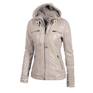 BLOUSON Femme Jackets Classique Slim Fit vestons en Cuir M