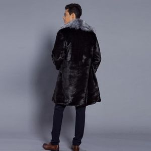 Fourrure Col Fausse Hommes En Mode Chaud Veste Épais Manteau De wYUAqFAx5