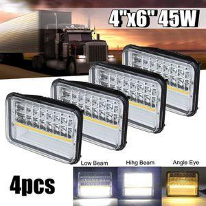PHARES - OPTIQUES NEUFU 4x 45W LED Phare DRL Hi/Lo Beam Replace H465