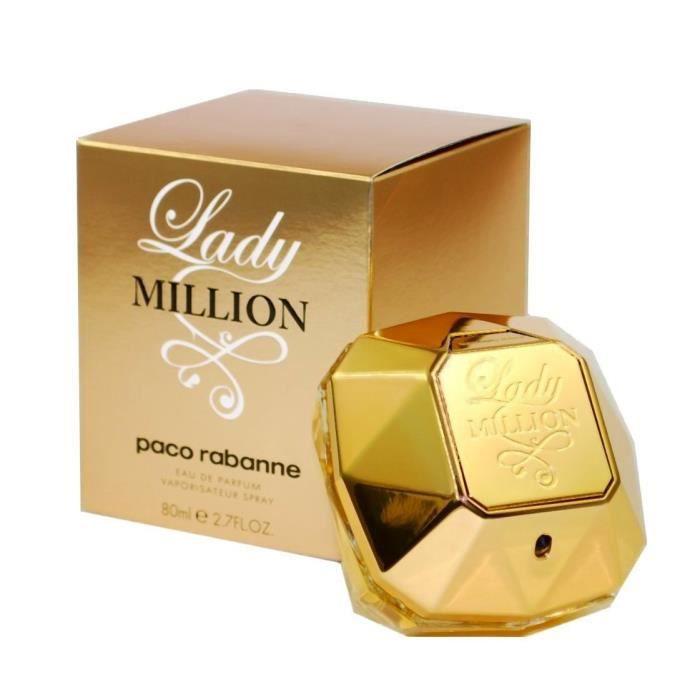 paco rabanne lady million 80ml eau de parfum femme. Black Bedroom Furniture Sets. Home Design Ideas
