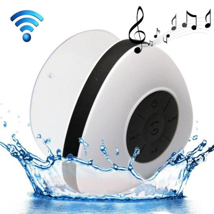 ENCEINTE NOMADE Enceinte Bluetooth Waterproof HD BLANC