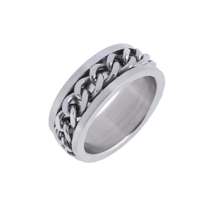 Bague Chaine Homme Homme Bague Chaine Inoxydable Acier Acier Chaine Inoxydable Acier Bague Homme kXN0ZnwP8O