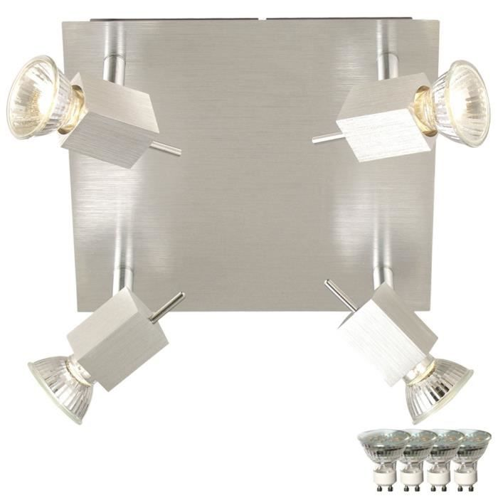 plafond luminaire salon salle manger alu lampe spot rglable dans lensemble ampoules led