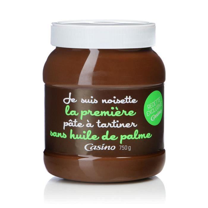 PÂTE À TARTINER CASINO Pâte à Tartiner Sans Huile de Palme 750g