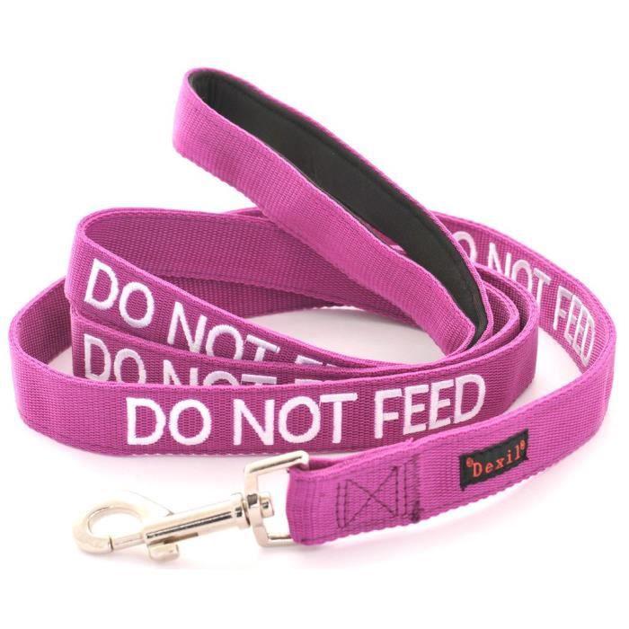 Dexil Ne Nourrissez Pas (allergies Alimentaires A - Sur Un Régime Alimentaire) Avertissement Violet Chien Couleur Coded Luxur 1gof5z
