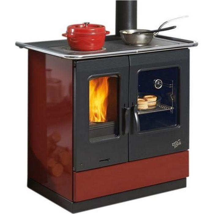 Godin - cuisinière à bois 6.5kw rouge - 241100carmin - Achat ...