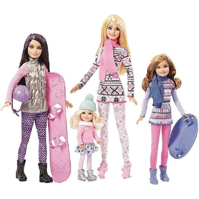 Barbie CMY41 Poupée Barbie Et Ses Soeurs Au Ski
