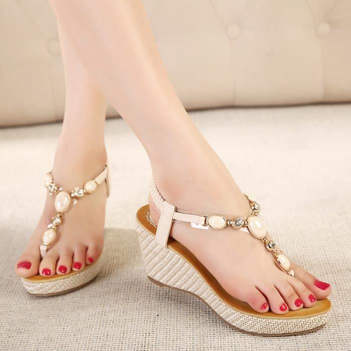 Sandales compensées FEMME