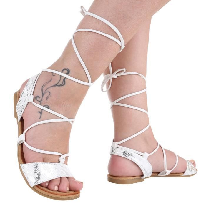 Chaussures femmes sandales Escarpins avec laçage