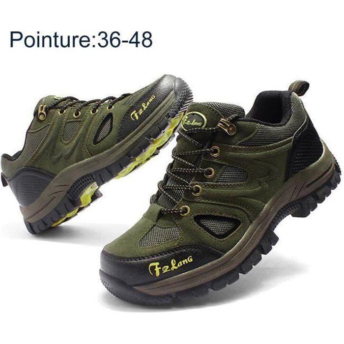 Marche Randonnées Femme Homme Vert Trekking Outdoor Chaussures YEW9H2eDI