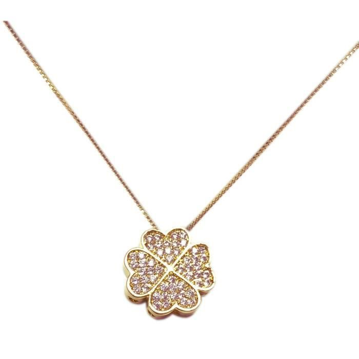 Elise M Freesia Rose Gold Chain Necklace S0M7V