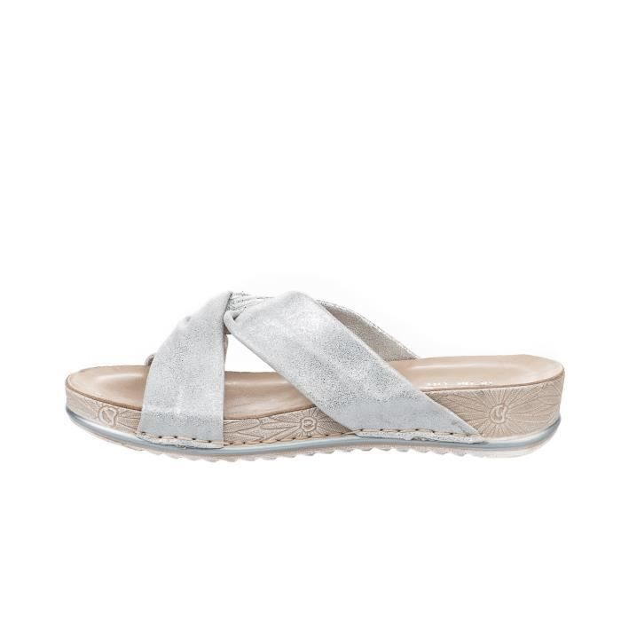 36 Argent Femme Gris The In City Walk Mules 8Sq0Y
