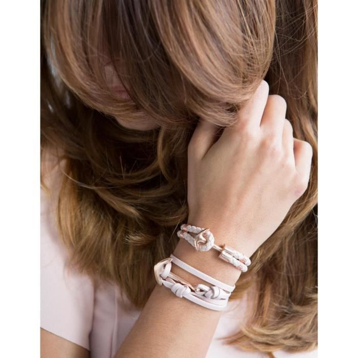 HOOKED - HOOKED HRR40 Femmes Bracelet Haken Acier inoxydable Rose Bleu Réf 54619