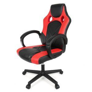 CHAISE DE BUREAU Keisha Chaise de bureau rouge et noir - Sport - Fa