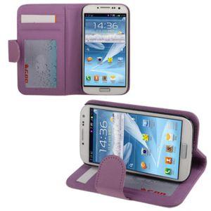 HOUSSE - ÉTUI Etui Galaxy S4 i9500  à rabat latéral violet