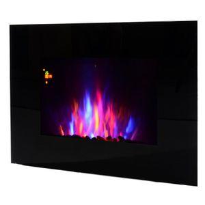 CHEMINÉE Cheminée électrique murale LED 7 effets flammes +