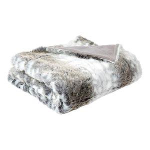 COUVERTURE - PLAID Plaid fausse fourrure Laponie Gris 150 x 180 cm