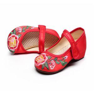 BALLERINE Ballerines Enfant Fille chaussures en tissu Rouge