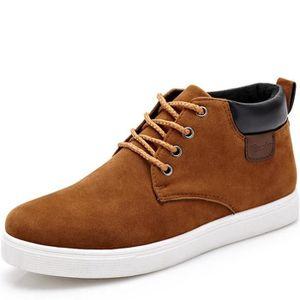 Hommes Chaussure de plein air les souliers montants Hiver Classique Durable  Chaussures Marque De Luxe Grande Taille 39-44 gris - Achat   Vente basket  ... 7028023c2aa3