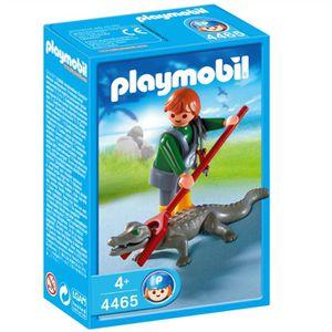 UNIVERS MINIATURE Playmobil Soigneur d'animaux avec caïman