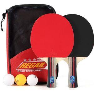 d3803a815763d RAQUETTE TENNIS DE T. Set De Tennis De Table - 2 Raquette Ping Pong De