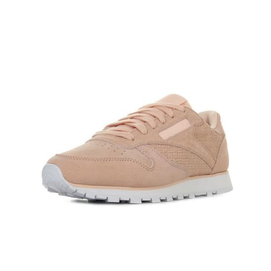 Baskets Reebok Classic Leather Woven Emb Rose Rose - Achat / Vente basket