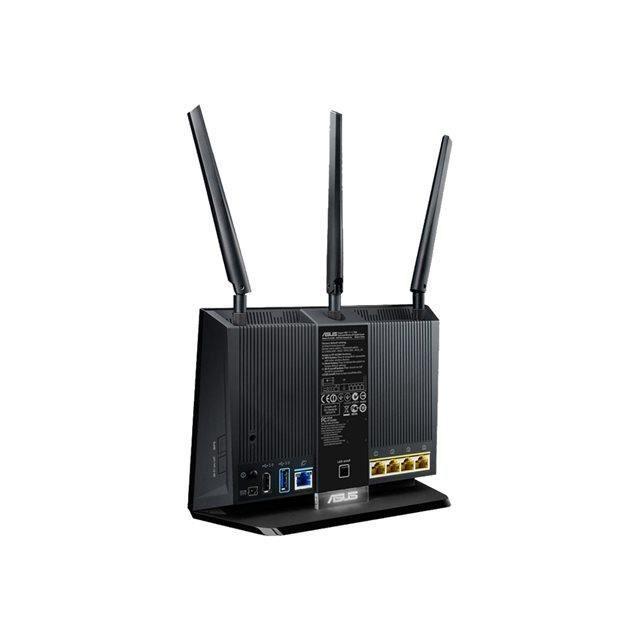 ASUS Routeur sans fil RT-AC68UF - Commutateur 4 ports - GigE - 802.11a/b/g/n/ac - Bi-bande