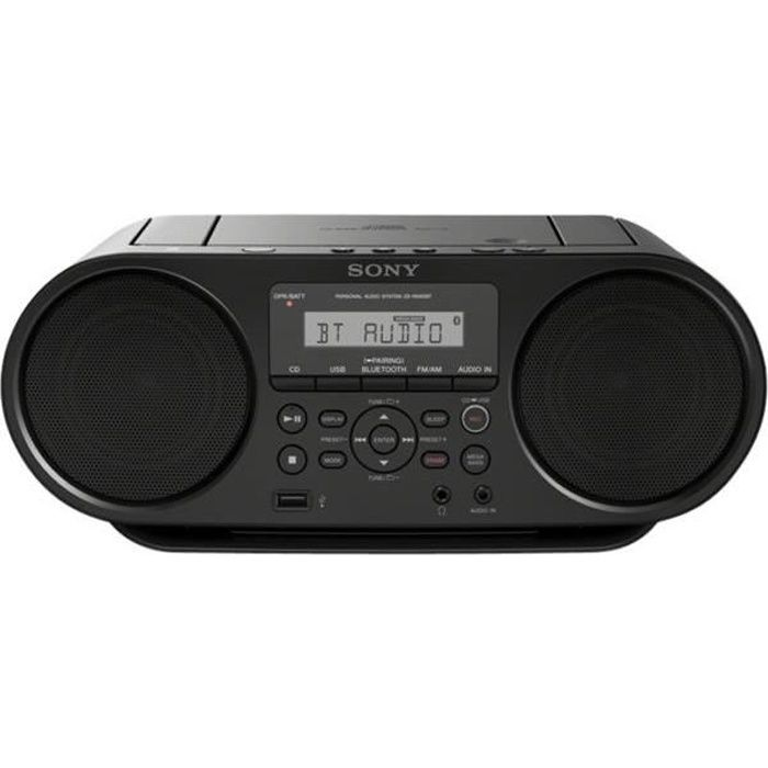 SONY - Boombox bluetooth - Lecture USB - Fonction mega bass - Noir