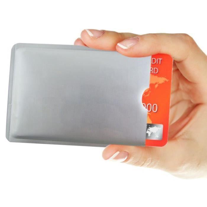 lot de 10 protection carte de cr dit nfc rfid sans contact carte bleue visa mas achat. Black Bedroom Furniture Sets. Home Design Ideas