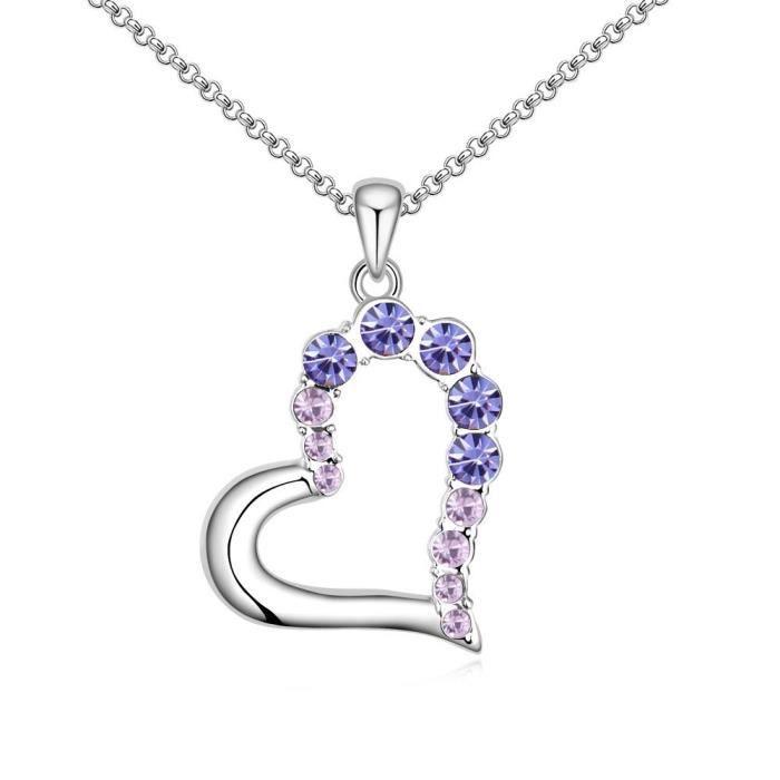 bdef5794e7d3c Les cristaux Swarovski femmes Coeur de diamant - amour - valentine collier  pendentif. Mode Wear