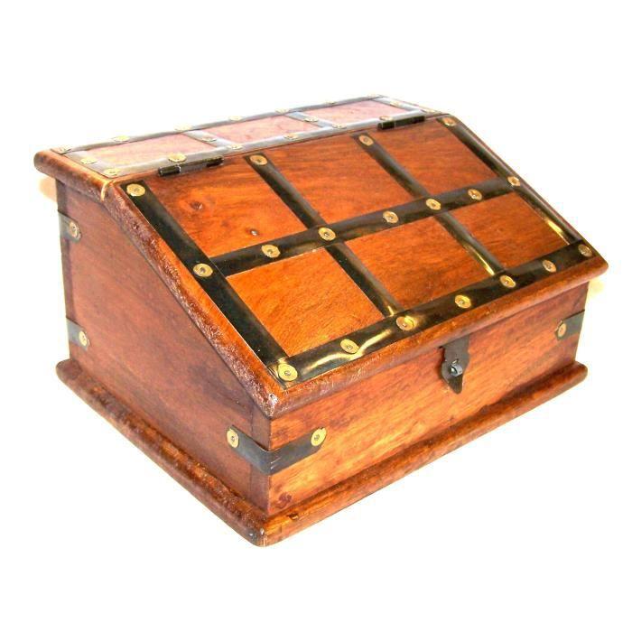 coffret m di val de bureau en bois et fer achat vente objet d coratif bois fer cdiscount. Black Bedroom Furniture Sets. Home Design Ideas