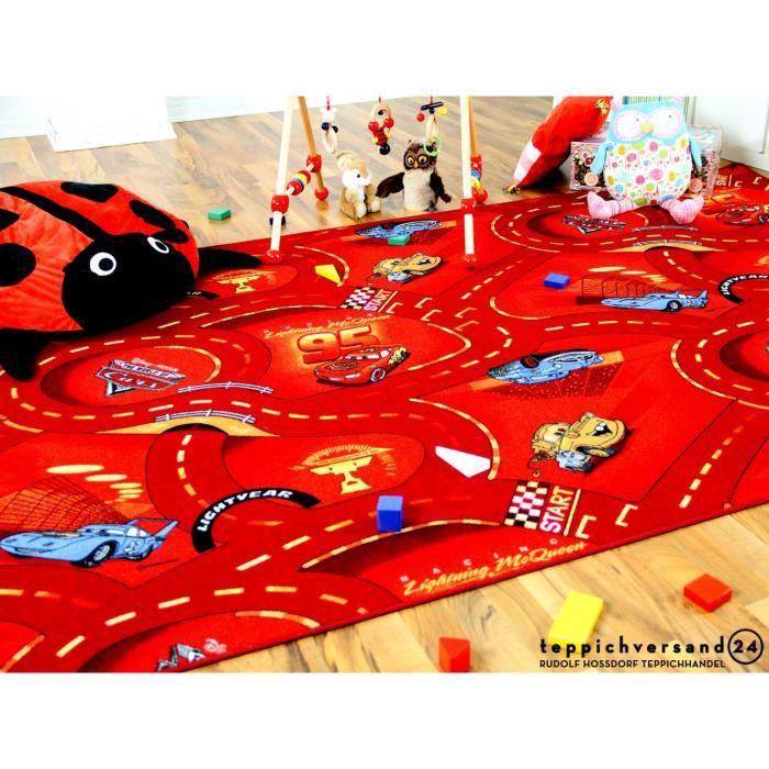 Tapis de jeu pour enfant Disney Cars bleu circuit de route rond 4 tailles disponibles