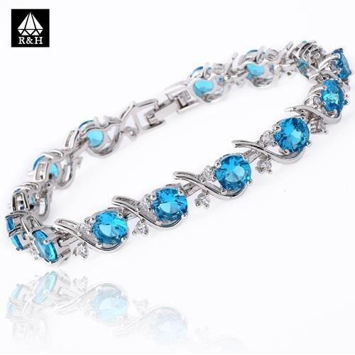 bracelet Multicolore Argent plaqué cristal Zircon Gild.