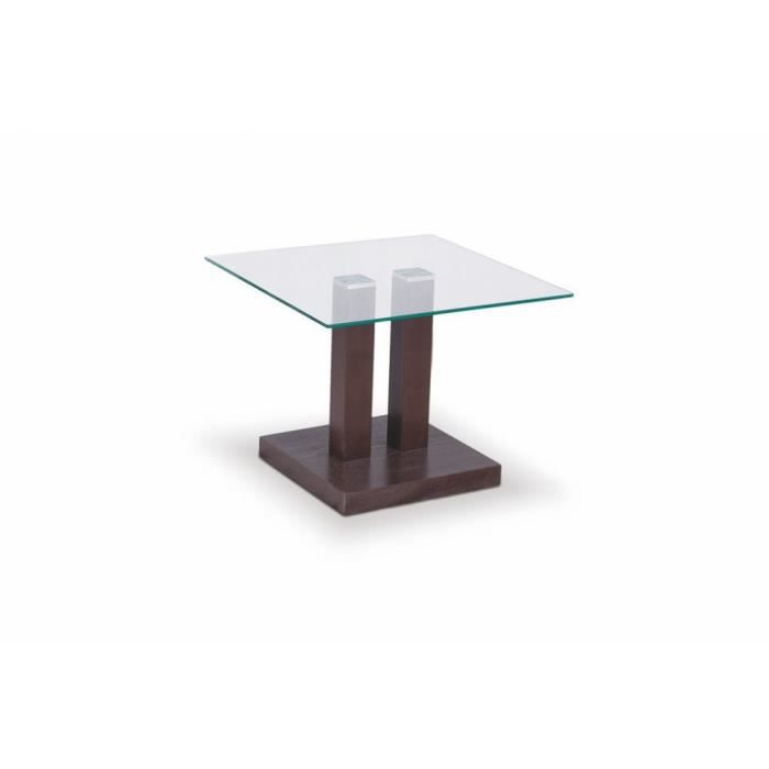Gaya Justhome CouleurWengé Table Bassehxpxl45x50x50 Cm roedCxB