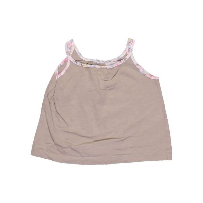 54a240cb05c90 T-shirt sans manches enfant fille VERTBAUDET 2 ans beige été  977445 ...