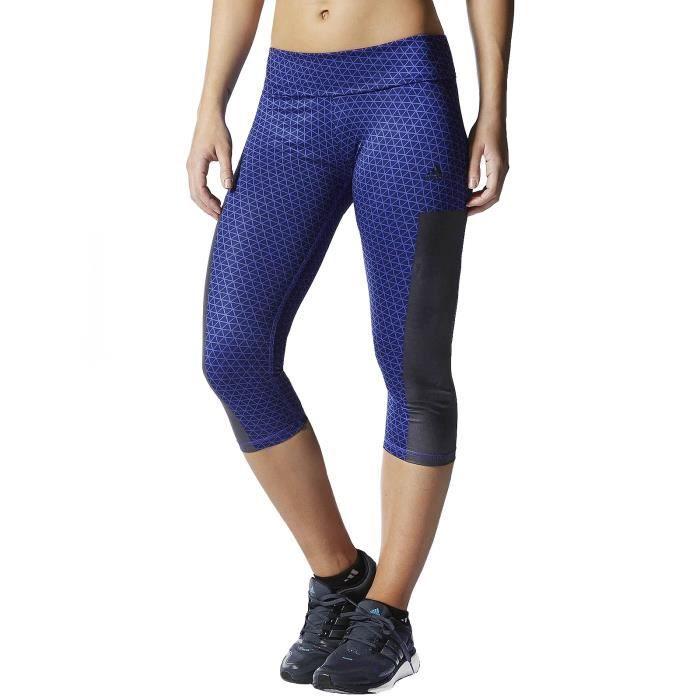 Adidas Performance - collants 7 8 femme - court pantacourt - violet ... 0c16042b4b3