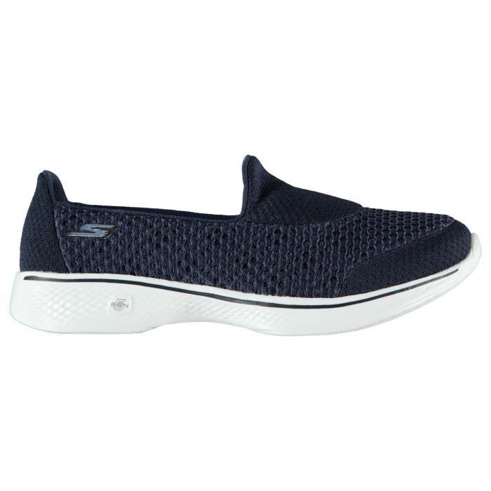 Chaussures De Femme 4 Bleu Slip Bleu Walk Sport On Go Skechers UxXIgg