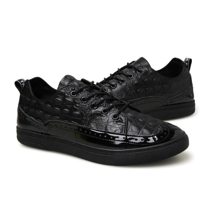 Calseosvic , Chaussures de ville à lacets pour homme - Noir