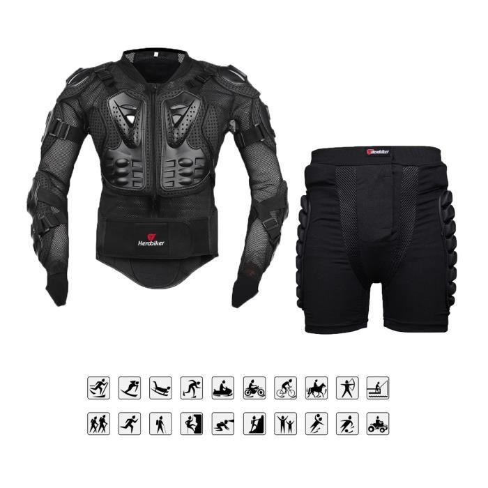 Armure Complète du Corps Blouson de Motard Veste Ensemble de Moto Cyclisme  Coques Rigides de Protection f34b20f5e4fa