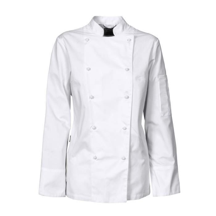 VESTE PROFESSIONNELLE Veste de cuisinier classique - Femme - blanc - XS