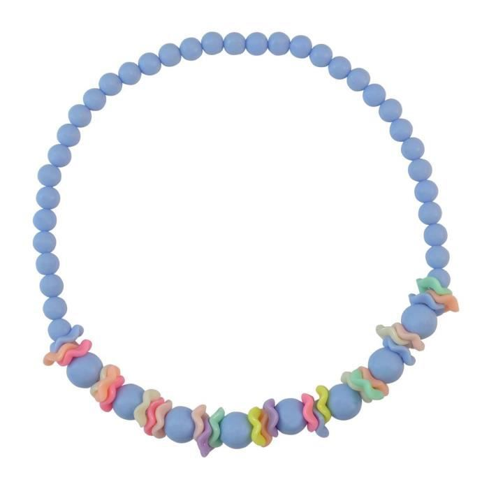 Womens Blue Beads Necklace Set ForES9SK