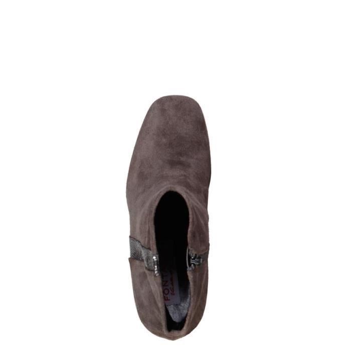 Fontana 2.0 - Bottes en cuir gris ilary talon -Hauteur: 8cm