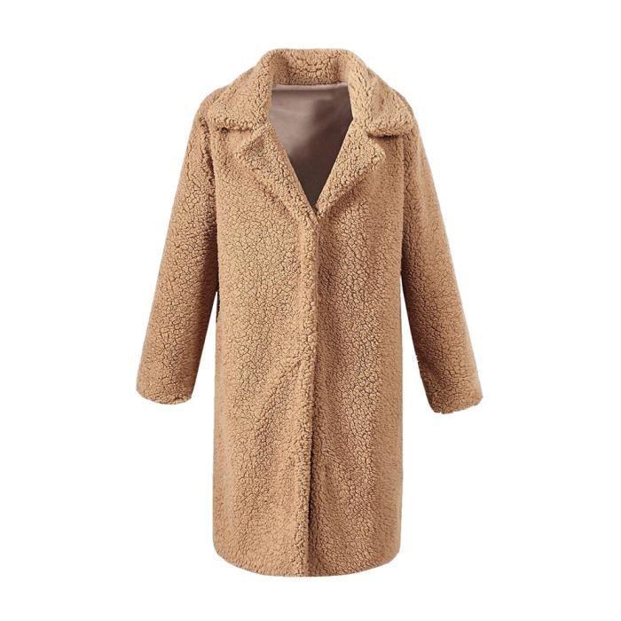 Femal Manteau Chaude Streetwear Taille Mode De Hiver Femmes We5166 Laine Long Grande Mélange IgHZPx