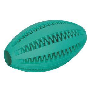 NOBBY Jouet Dental fun rugby en caoutchouc - Menthe - 11cm - Pour chien