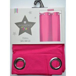 rideau rideau en coton rose fuchsia pour chambre enfant