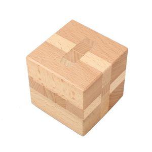 PUZZLE Jouet d'Intelligence en bois Casse-tête chinois Je