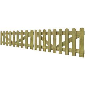 PORTAIL - PORTILLON Portillons portail piquet en bois impregne 2 pcs 19a7fb6904c2